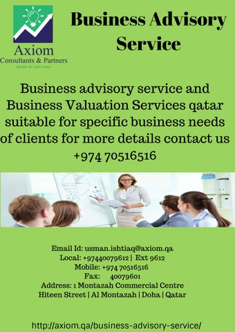 Business Advisory Service | Business Valuation Services