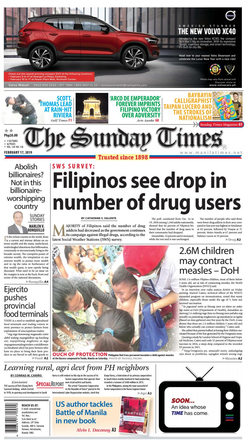 online store 34af9 8bd7d The Manila Times   February 17, 2019 by The Manila Times - issuu