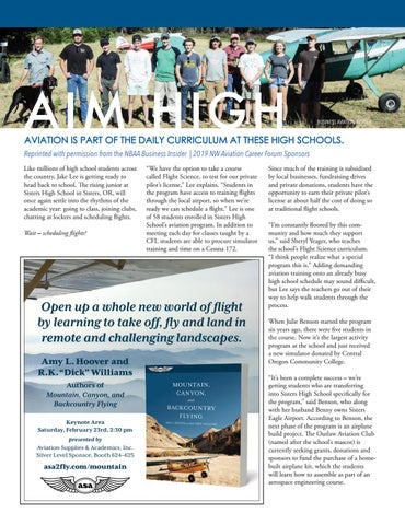 Page 19 of High Schools in the NW bring aviation into the classroom