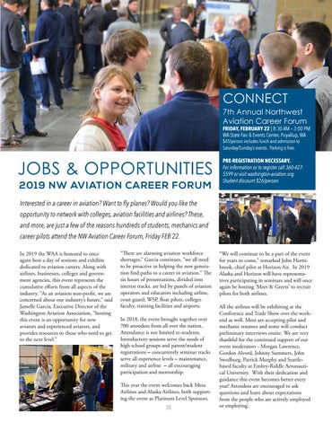 Page 35 of Aviation Career Forum at the NW Aviation Conference | FEB 22