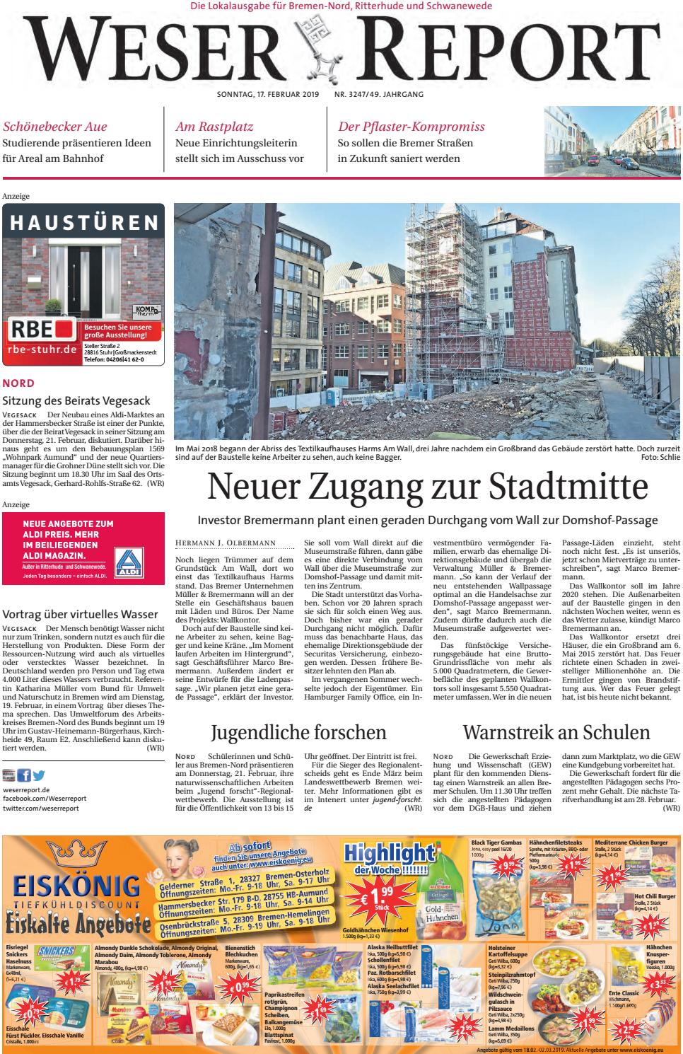Weser Report - Nord vom 17.02.2019 by KPS Verlagsgesellschaft mbH ...