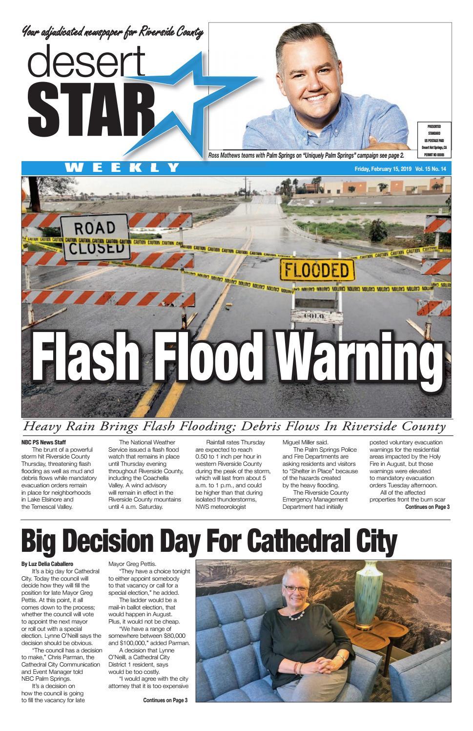 Desert Local News Feb  15, 2019 by The Desert Star Weekly