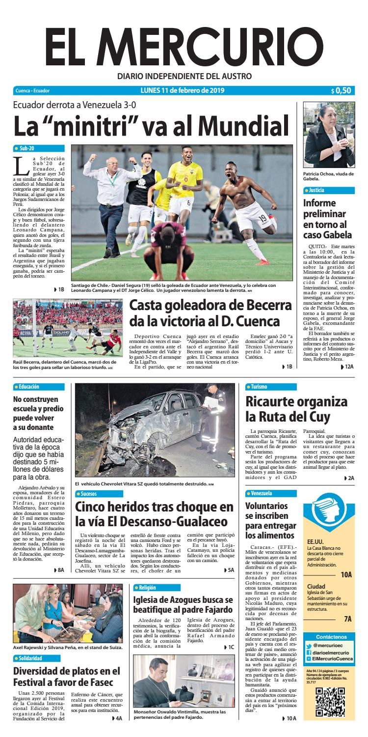 c31eb44949 El Mercurio-11-02-2019 by Diario El Mercurio Cuenca - issuu