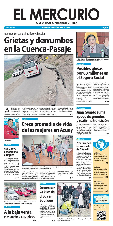 El Mercurio-15-02-2019 by Diario El Mercurio Cuenca - issuu 646bf32ade8