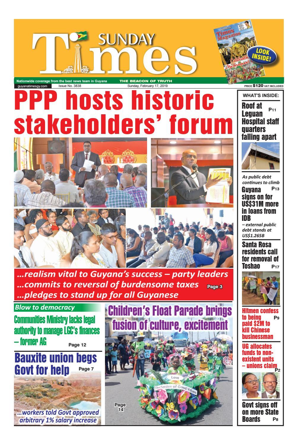 Guyana Times - Sunday, February 17, 2019 by Gytimes - issuu