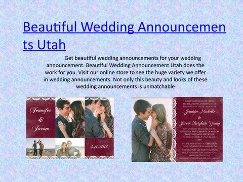 Beautiful Wedding Announcements.Beautiful Wedding Announcements Utah By Amela Jones Issuu