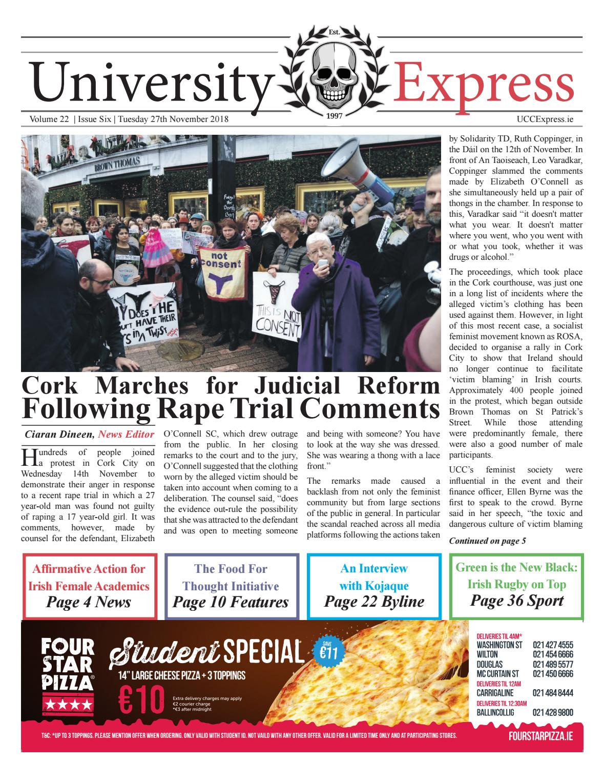 The University Express Vol  22: Issue 6 by University