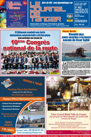 b8c91b3a3af71 Le journal de Tanger 29 septembre 2018 by Le Journal de Tanger - issuu