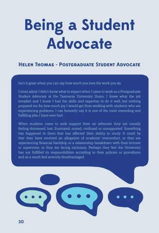 Page 30 of Being a Student Advocate