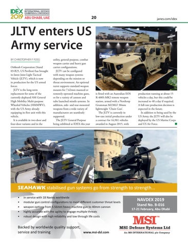 Page 22 of JLTV enters US Army service