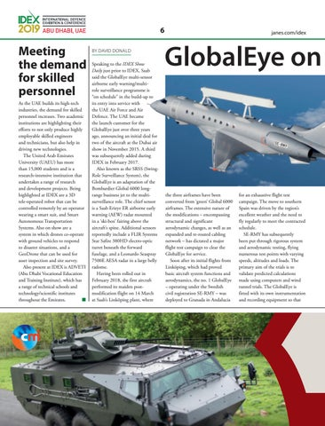 Page 8 of GlobalEye on course