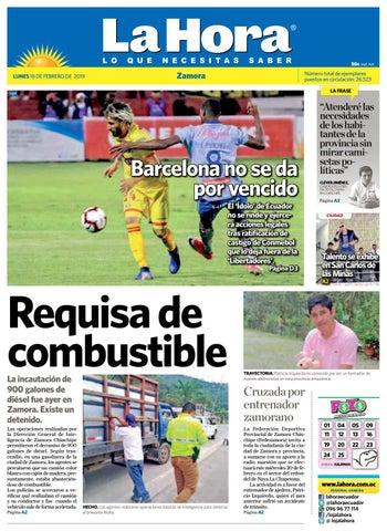 Diario La Hora Zamora 18 de Febrero 2019 by Diario La Hora Ecuador ... af7271b9218cd