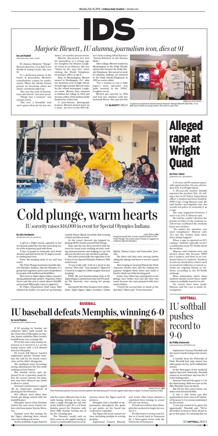 84d7c753d9 Monday, Feb. 18, 2019 by Indiana Daily Student - idsnews - issuu