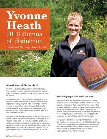 Page 8 of Yvonne Heath, 2018 alumna of distinction