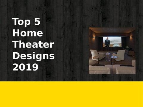 Best Modern Home Theater Designs 2019