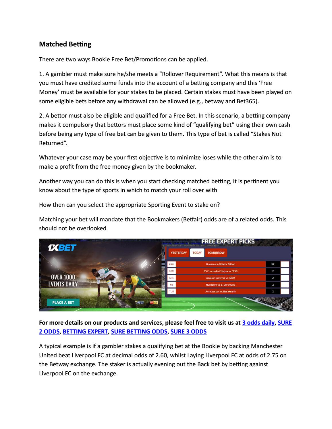 Matched Betting by betensured - issuu