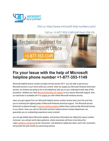 Microsoft Helpline Phone Number +1-877-353-1149 | Microsoft Support