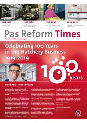 Pas Reform Times 2019 by Pas Reform Hatchery Technologies