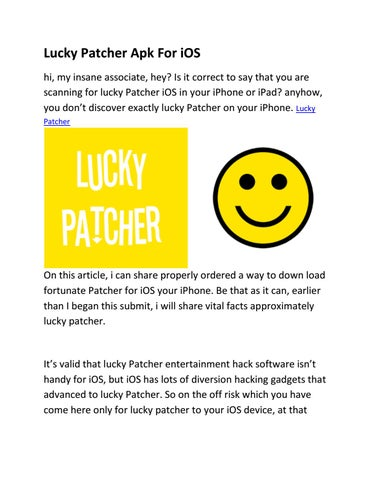 lucky patcher iphone download