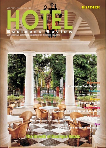 Hotel Business Review (Jan-Feb 2019) by Hammer Publishers Pvt  Ltd