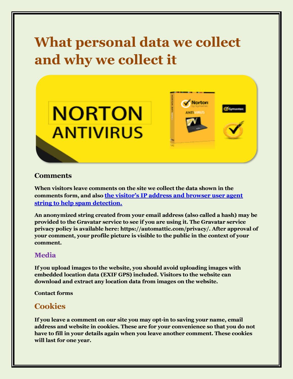 Norton account login page