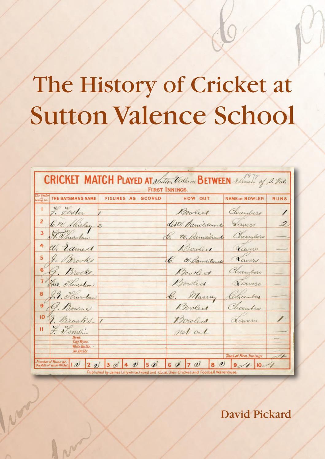 Hunts County Scorebook Score Book Cricket Accessory Book 60 /& 20 Inning