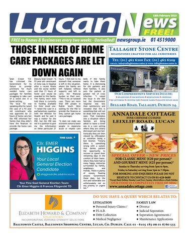 4a3e3731afd45 Lucan News 18.02.19 by Newsgroup - issuu