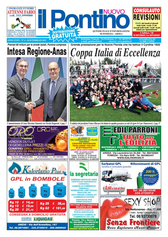 39a73fe54368 IL PONTINO NUOVO - Anno XXXIV - N. 4 - 16 28 Febbraio 2019 by Il Pontino Il  Litorale - issuu