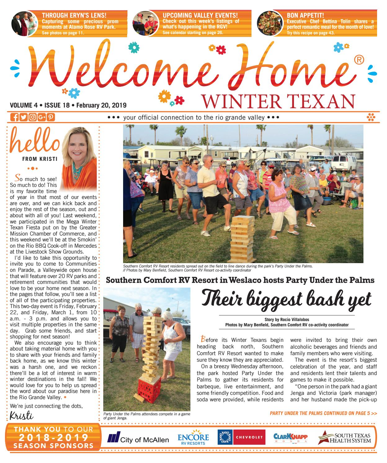 a6dd35e52fe Welcome Home Winter Texan   Vol 4 Issue 18   February 20