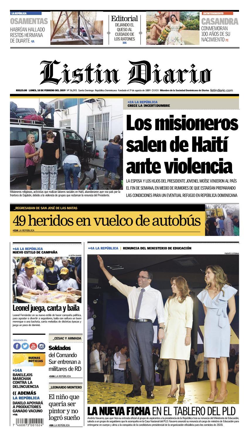 587aff09d7a8d LD 18-02-2019 by Listín Diario - issuu