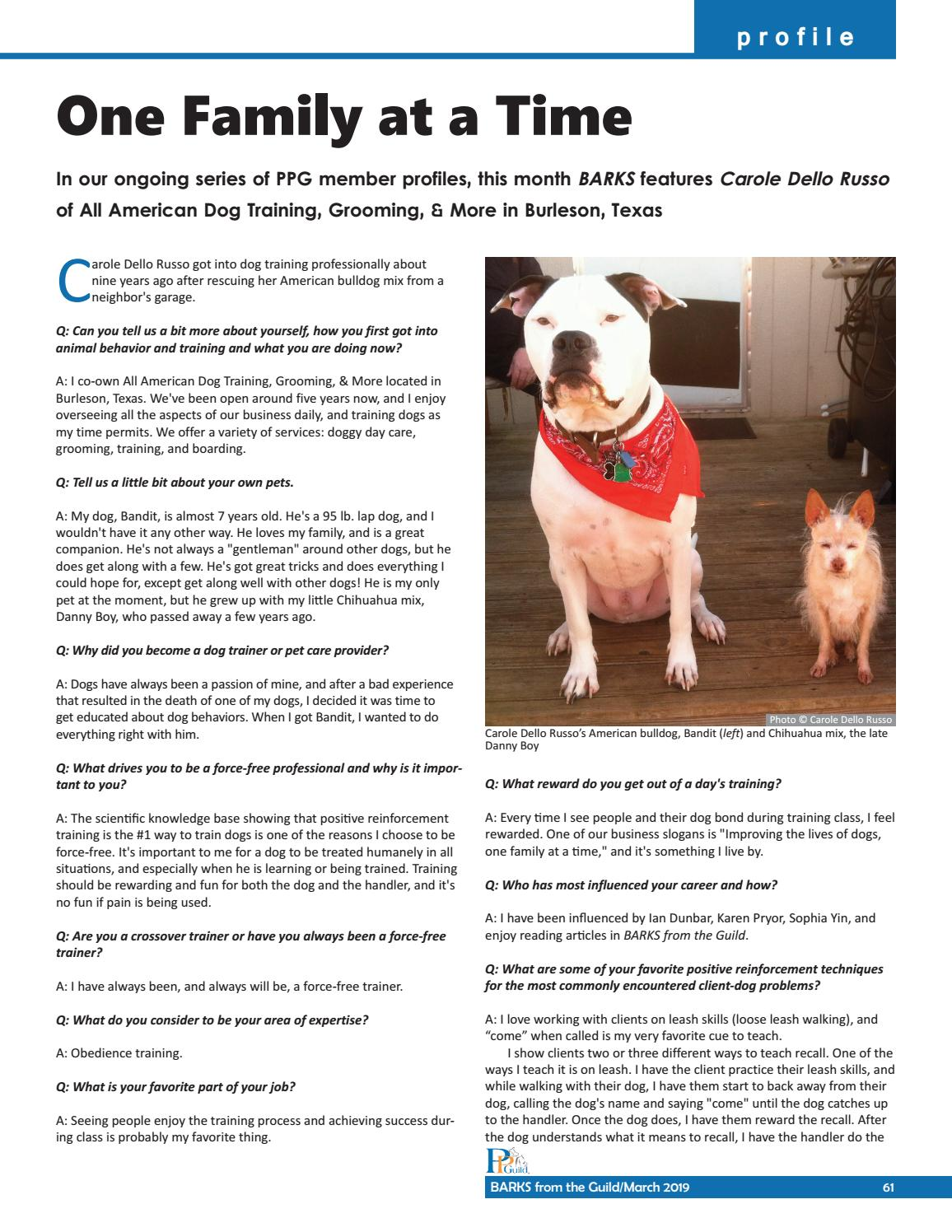 BARKS from the Guild March 2019 by The Pet Professional Guild - issuu