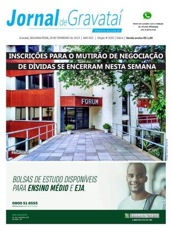 094fdeb87 Jornal de Gravataí. Segunda-feira, 18 de fevereiro de 2019. Edição ...