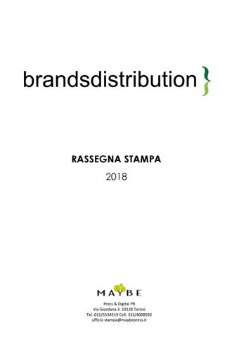 54d3ac55a72ee Rassegna stampa 2018-2019 Brandsdistribution by maybe ufficio stampa ...
