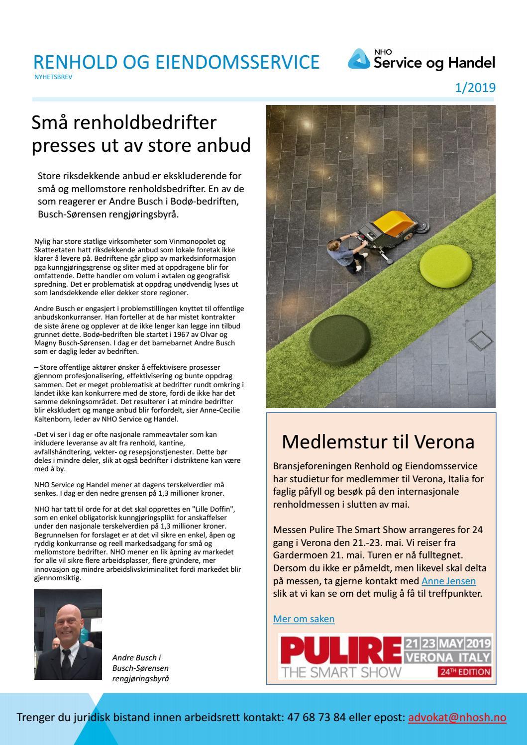 be2d00f2 nyheter renhold12019 by Baard Fiksdal - issuu
