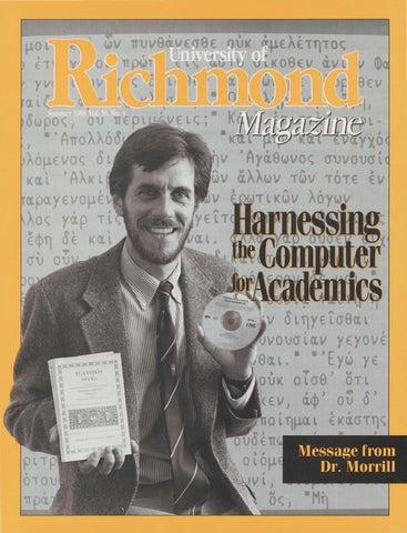 1f1364a3c46 University of Richmond Magazine Summer 1988 by UR Scholarship ...