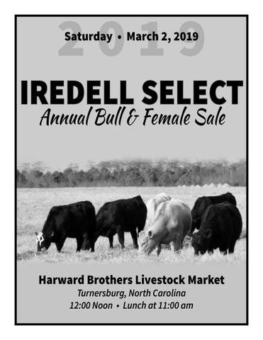 2019 Iredell Select Bull & Female Sale by Brooke Harward - issuu