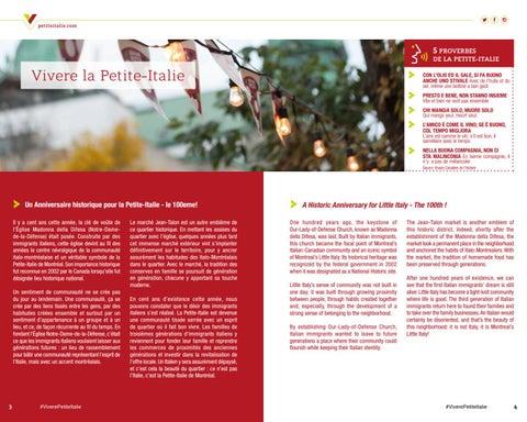 Page 3 of Le guide de la Petite-Italie de Montréal.