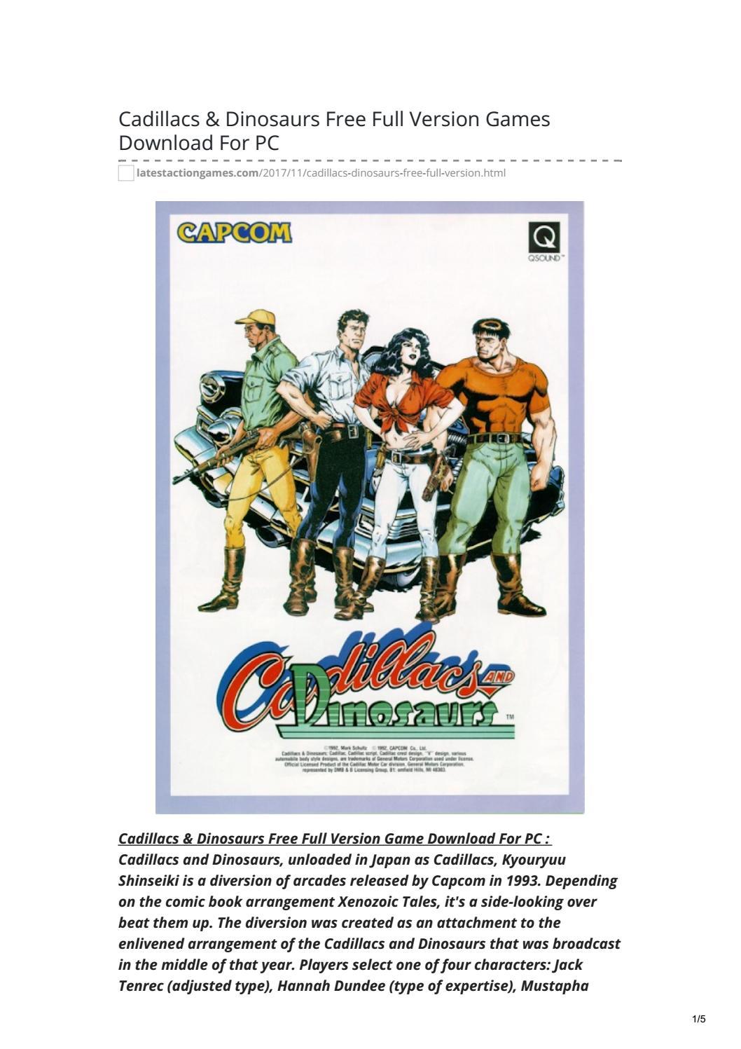 Cadillacs And Dinosaurs Pc Download