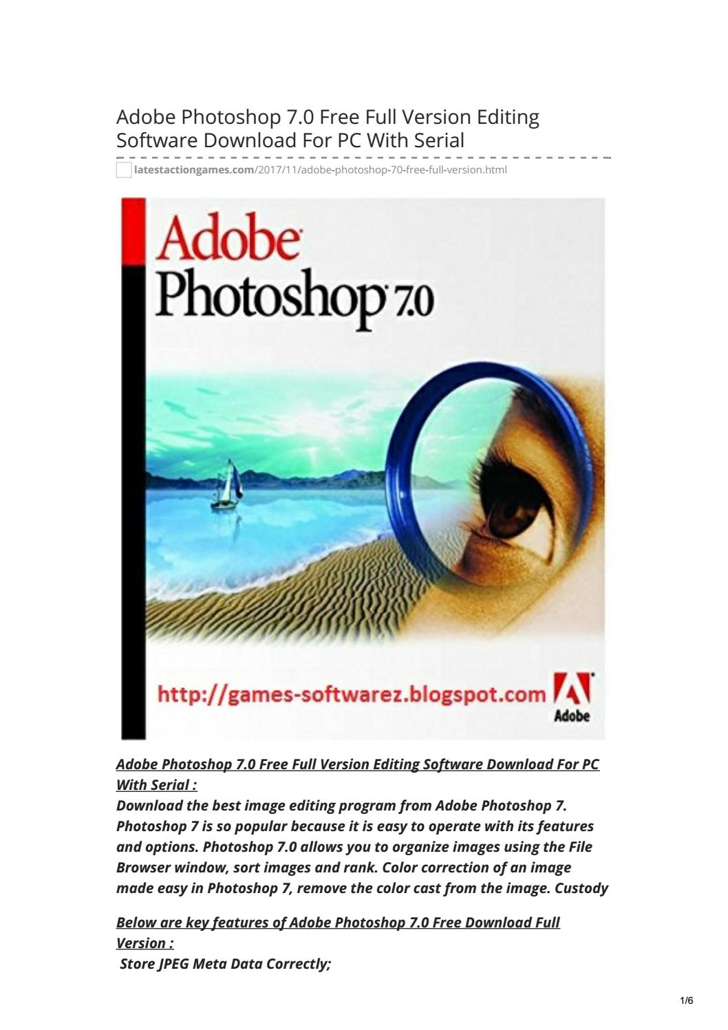photoshop free download for windows