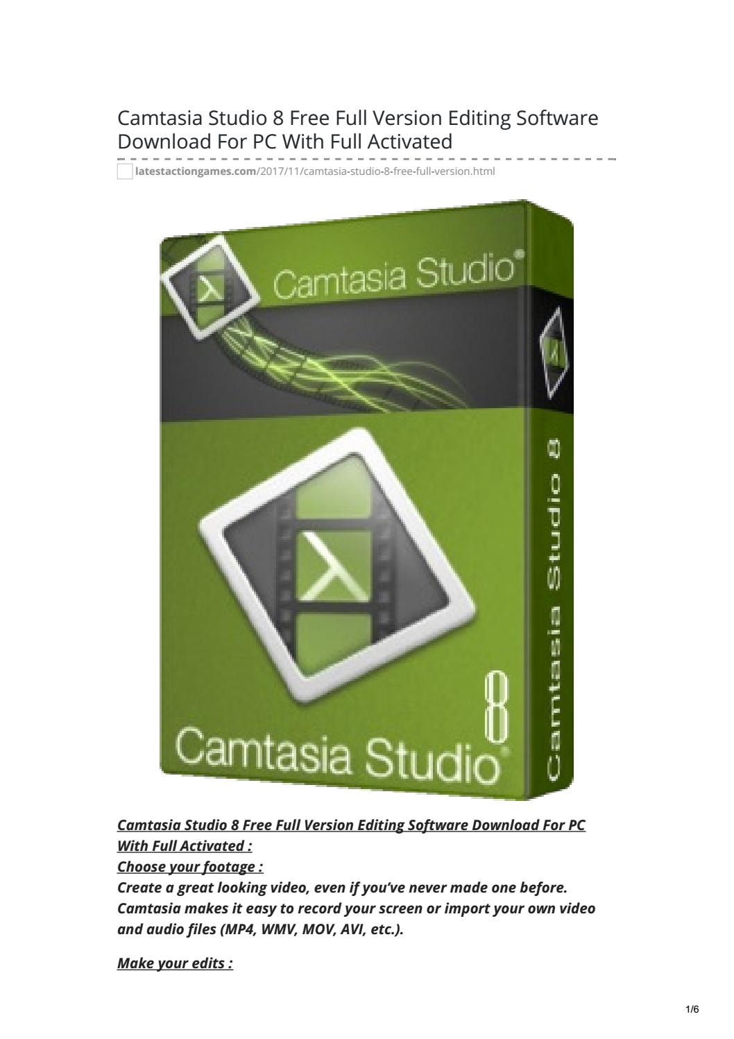 Camtasia Studio 8 Free Full Version Editing Software