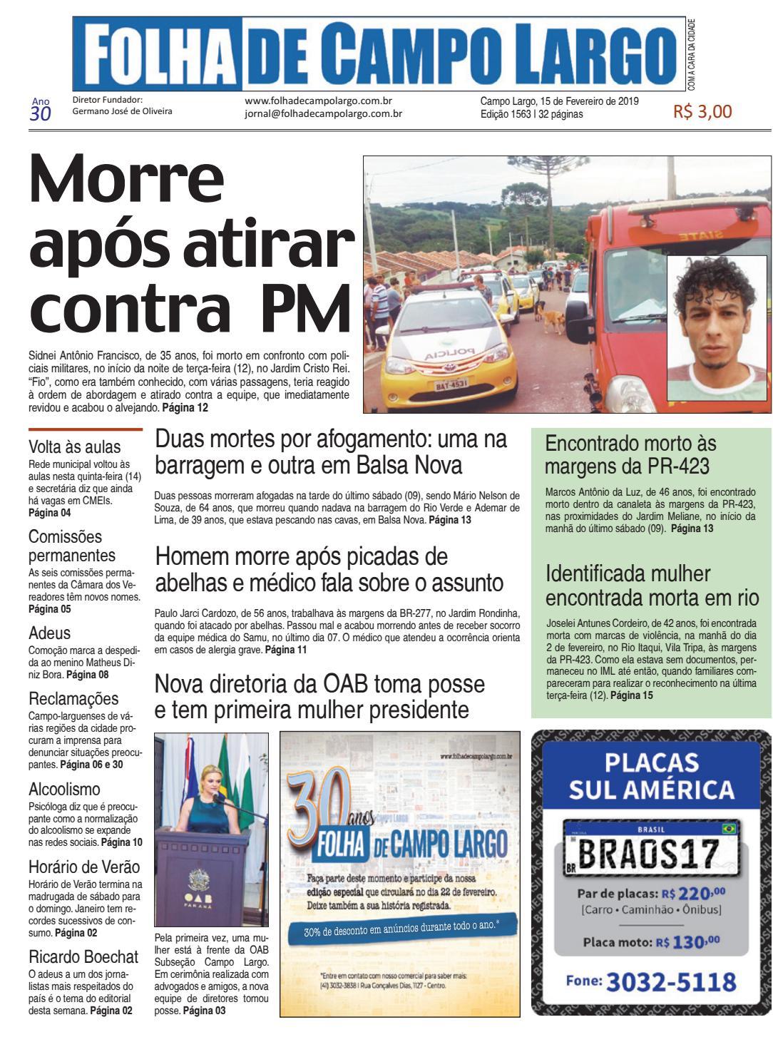 e7be8224d Folha de Campo Largo by Folha de Campo Largo - issuu
