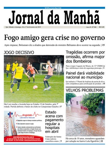 07d26c02ce912 Jornal da Manhã - Sábado - 16-02-2019 by clicjm - issuu