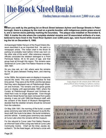 Page 26 of Brock Street Burial - Remains found from a man who lived over 2,000 years ago