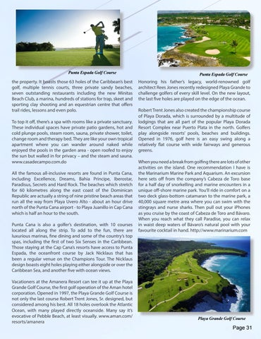 Page 31 of Global Getaways - The Dominican Republic, by Margaret Swaine