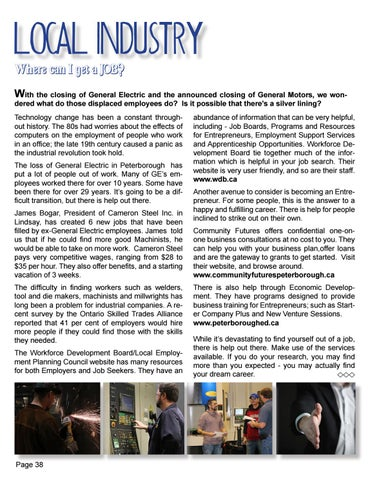 Page 38 of Help!  I need a Job!  Where do I go?