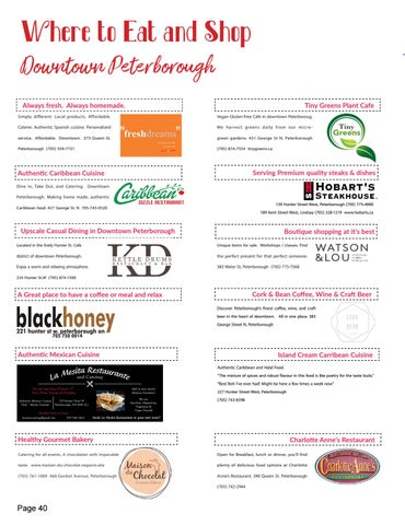 Page 40 of Where to eat and shop in Peterborough, Ontario