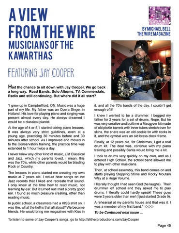 Page 45 of A View from The Wire - Musicians