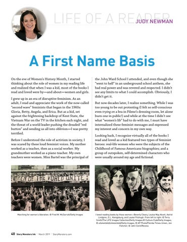 Page 40 of Judy Newman, Life of a Reader: A First Name Basis