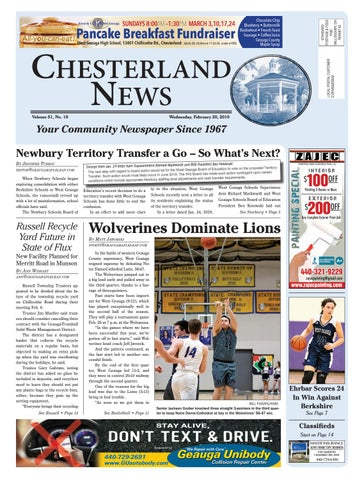 e8698e7b6 Chesterland News 2-20-19 by Geauga County Maple Leaf - issuu