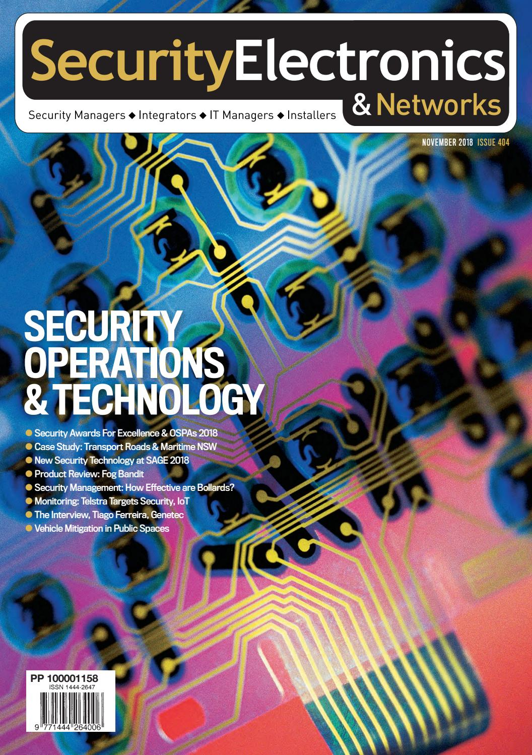 SEN November 2018 by Security Electronics & Networks